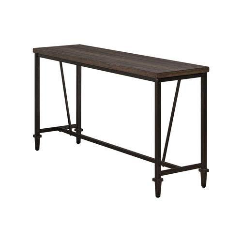 - Hillsdale 4236-883 Trevino Sofa/Console Table, Brown