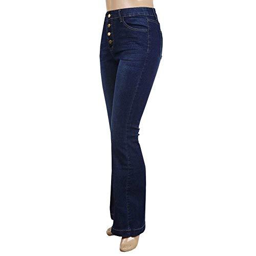 Alta Mezclilla Huixin Chern Flaco Stretch Fit Mujeres Slim Las Agujeros Vaqueros Legging Navy Jegging Pantalones Cintura Básicos De Denim Con Elásticos 8na84Ff