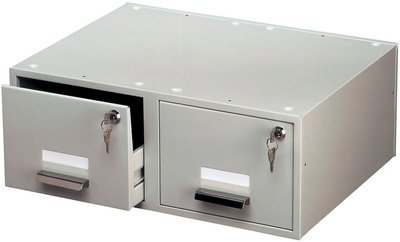 DURABLE Hunke & Jochheim A5 Duo Index Card Box Double-Wayed for 2X 1500 Cards Format up to DIN A5 Grey by Durable