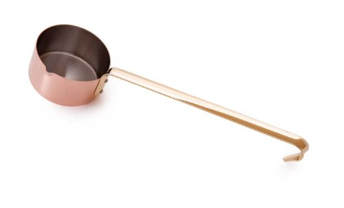 Mauviel Made In France M'Heritage Copper M150B 6528.03 0.3-Quart Small Saucepan with 13.6-Inch Long - Cuprinox La Pour Table