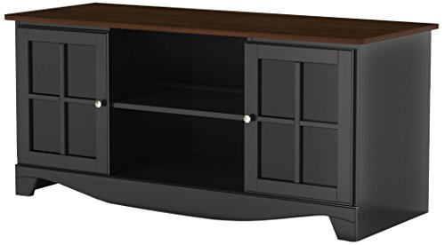 Pinnacle 54-inch TV Stand 101225 from Nexera - Cinnamon-Cherry and Black (3 Modular Tv Stand Shelf)