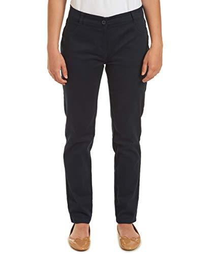 - Nautica Junior's Uniform Skinny Stretch Sateen Pant, Navy, 15