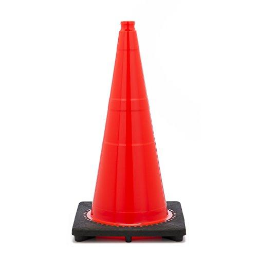 "UPC 751354098884, Comfitwear 28"" Orange Traffic Safety Cones with Black Base"