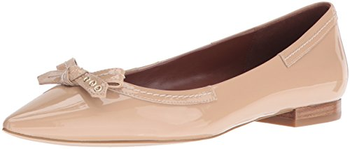 Cole Haan Women's Alice Bow Skimmer Pointed Toe Flat, Maple Sugar, 9.5 B US