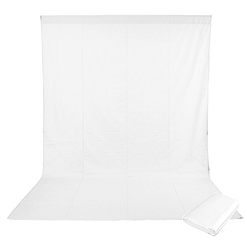 ePhotoInc 10 x 12 FT Photo Studio 100% Pure White Muslin Backdrop Background for Photography,Video and Television 1012W