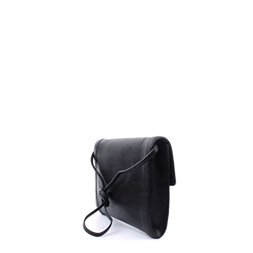 TWIN SET LEATHER CLUTCH AS7PTS-00006 NERO