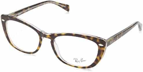 ce761963aedcc Ray-Ban Women s 0rx5366 No Polarization Cateye Prescription Eyewear Frame