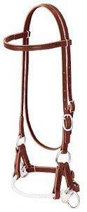 Weaver Bridle Leather Side Pull Training Headstall Single Rope Latigo Leather