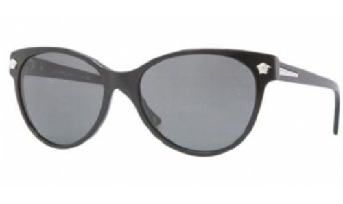 274e2b5667b4 Image Unavailable. Image not available for. Colour  Versace Women s  VE4214-GB1 87-56 Black Round Sunglasses