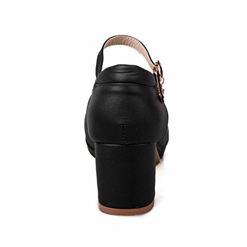 Black 411 TAOFFEN Bloc Talons Femmes Escarpins Mode wHCXaxq