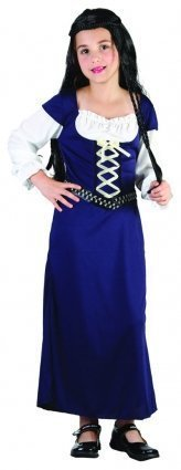 Girls Fancy Dress Costume Maid Marian Age 4-6 years 110-120cm Medieval Middle Ages by Pams (Middle Ages Costumes)