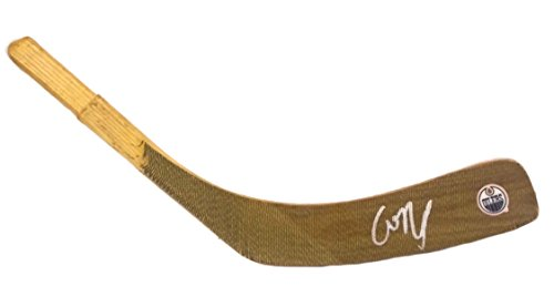 Edmonton Oilers Connor McDavid Autographed Hand Signed Oilers Logo Hockey Stick Blade with Proof Photo of Signing and COA