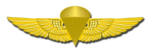 Marine Corps Jump Wings Military Window Car Bumper Sticker Vinyl Decal 3.8