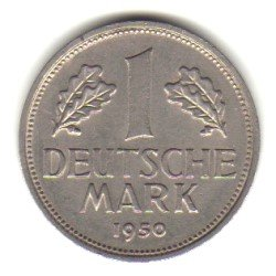 1950-F Germany Federal Republic 1 Mark Coin KM#110 A Mark Coins