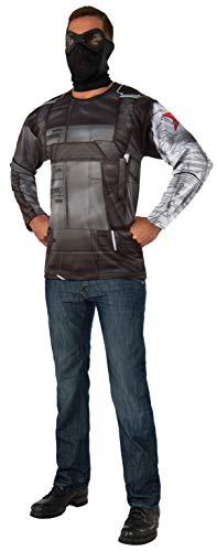 Rubie's Men's Captain America: Civil War Winter Soldier Long Sleeve Costume Top, As As Shown, Standard -