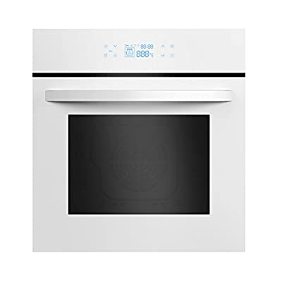 """Empava 24"""" Tempered Glass LED Digital Touch Controls Electric Built-in Single Wall Oven 3400W 110V,White"""