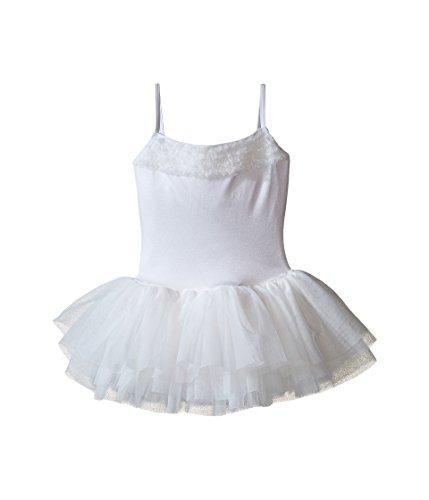 Bloch Girl's Des Demona Tutu Leotard Dress 4-6 White