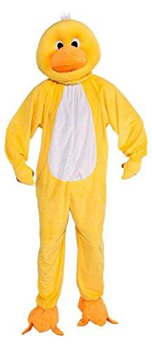 Forum Novelties Men's Plush Duck Mascot Adult Costume, Yellow, Standard]()