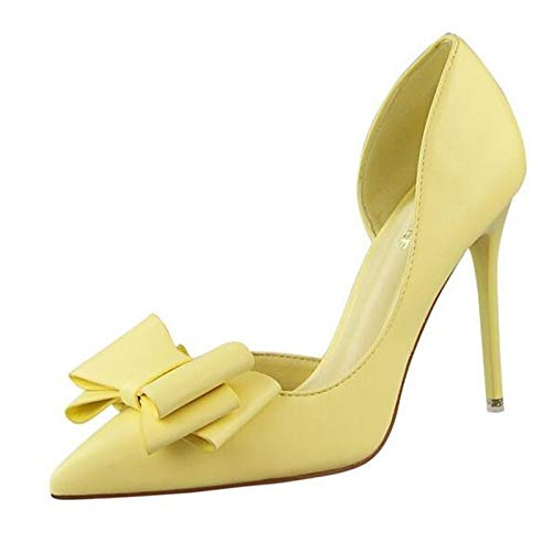 Summer Pink PU Yellow Women's Polyurethane Blue Heel Pump Shoes Basic ZHZNVX Stiletto Heels Blue 4Iw1q7fI