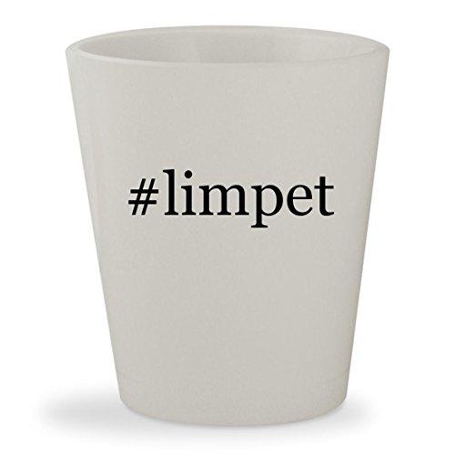 #limpet - White Hashtag Ceramic 1.5oz Shot Glass