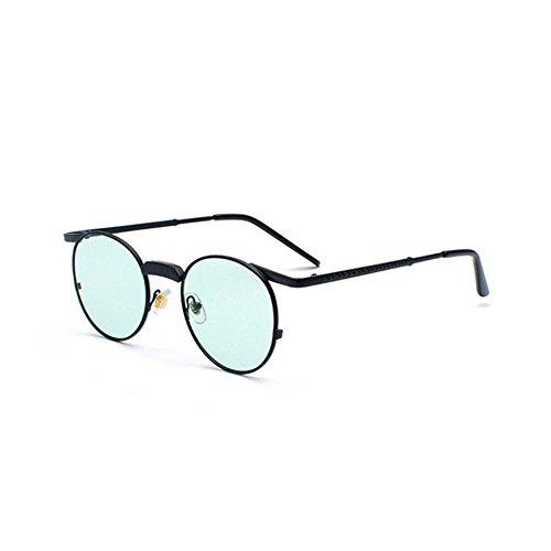 Aoligei Marque de lunettes de soleil dames européennes et américaines mode lunettes de soleil métal hommes marée ITvIpnDlzX