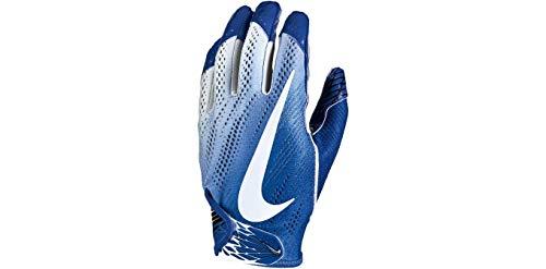 (NIKE Football Glove - Vapor Knit 2.0 (Game Royal/White/White, Large))