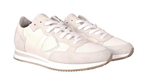 Philippe Model Sneakers Donna Bianche Bianco Sporco Scarpe In Pelle TRLD W09