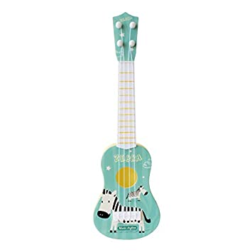 runl mo - Guitarra para niños, Juguete pequeño para Ukelele Animal ...