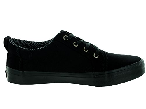 Toms Mens Navy Cotton Twill Valdez Casual Shoe Black on Black dN8iA