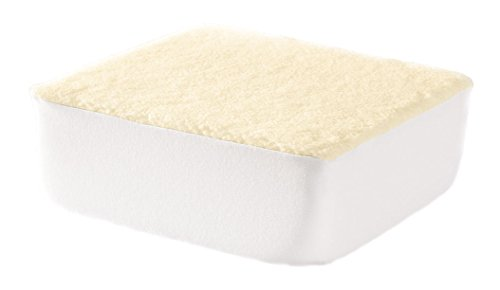 - Miles Kimball Extra Thick Foam Chair Cushion – Large Portable Chair Pad Removable Washable Beige Sherpa Cotton Slip-on Cover – 4 Inches Thick Added Pain Pressure Relief