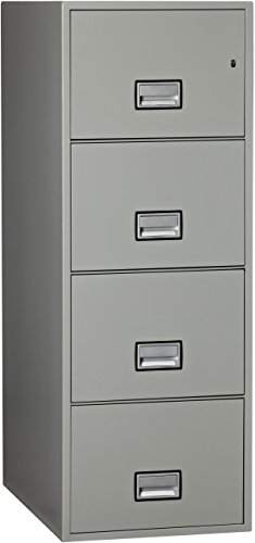 Phoenix Vertical 31 inch 4-Drawer Legal Fireproof File Cabinet - Light Gray by Phoenix Safe International