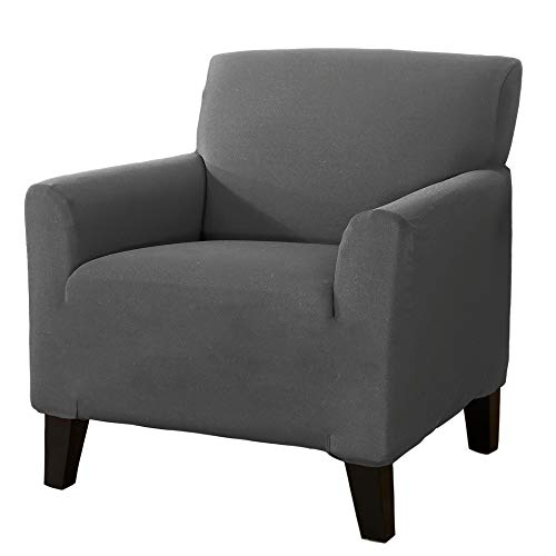 Home Fashion Designs 1-Piece Spandex Slipcover Dawson Collection. (Chair, Grey)