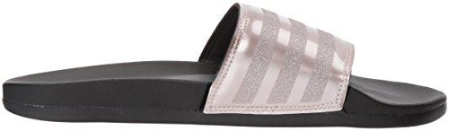 adidas Womens Adilette Comfort Slide Sandal, Vapour Grey Metallic/Vapour Grey Metallic/Black, 11 M US Vapour Grey Metallic/Vapour Grey Metallic/Black