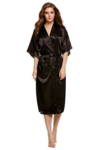 Avidlove Womens Kimono Robe Satin Lounge Bridesmaids Short Style