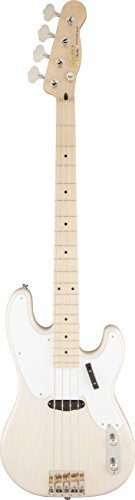 squier-by-fender-classic-vibe-50s-4-string-p-bass-guitar-white-blonde