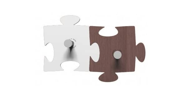 Perchero de Pared Design Puzzle 2 Elementos Blanco - Wengué ...