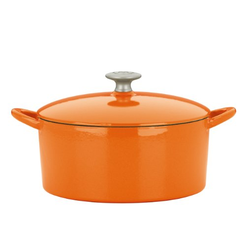 Mario Batali by Dansk Enameled Cast Iron 4-Quart Round Dutch Oven, Persimmon by Dansk