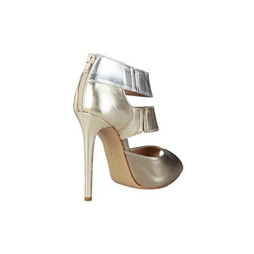 PIERRE CARDIN EW-1016 Sandalias De Vestir Para Mujer Con Cremallera Trasera Y Laterales Elásticas Tacón: 12 cm