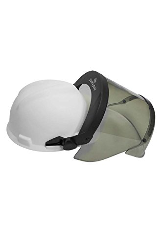 National Safety Apparel H12HTHAT PureView 12 Cal Face Shield with Slotted Adapter and Hard Hat, Highly Transparent, Polycarbonate, One Size, Translucent by National Safety Apparel Inc