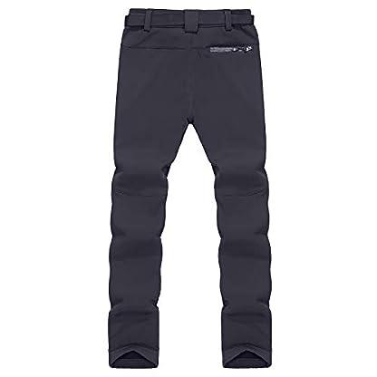 Naudamp Women's Outdoor Quick Dry Hiking Trousers Winter Softshell Windproof Fleece Lined Walking Climbing Pants 2