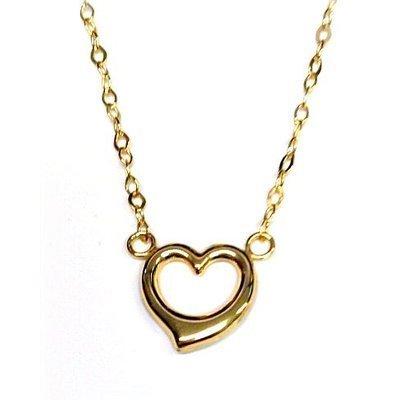 Pendentif en Forme de Cœur avec chaîne or-375