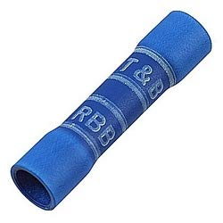 THOMAS & BETTS 2RB14X Tin Plated Copper Blue Expanded Vinyl-Insulated Butt Splice (Pack of 5)