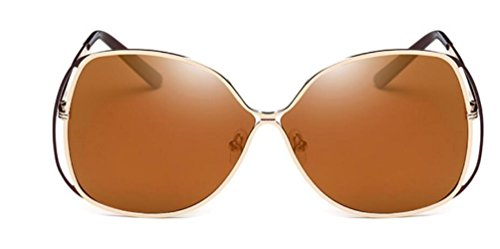 Party Lunettes Retro Msnhmu Europe America Lady Soleil Brown Shopping De And I87wX8