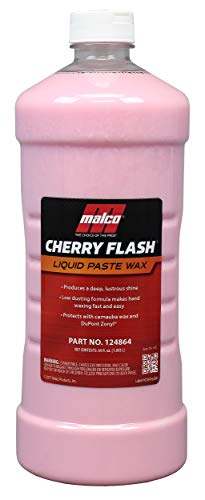 Malco Cherry Flash Automotive Liquid Paste Wax - Protect & Shine Your Vehicle/Easiest Way to Hand Wax Your Car/Lasting Gloss & Protection for Cars