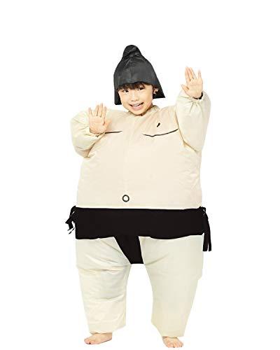 Girl Sumo Wrestler Costume (Inflatable Adult Sumo Wrestler Suits Wrestling Fancy Dress Halloween Costume One Size Fits Most (Black)