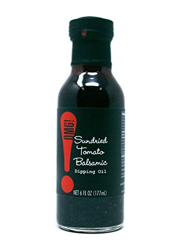 OMG!: Delicious Dipping Oil | As found in Pike Place Market | Perfect for breads, veggies, salads, and marinades. (Sundried Tomato Balsamic, 6 FL OZ)