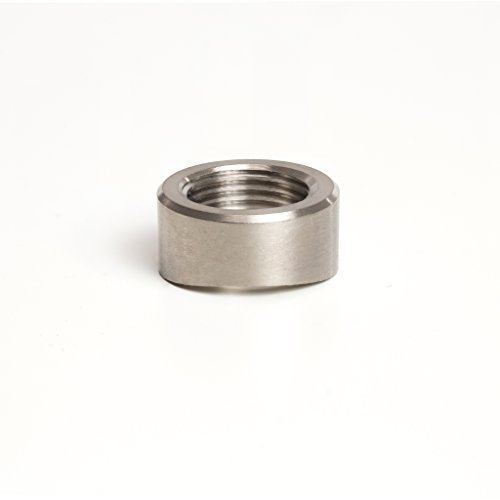 (Stainless O2 Sensor Bung/Boss - Coped/Radius Type - M18x1.5mm Thread Pitch - SS304 - Stainless Bros)