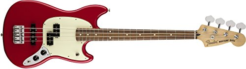 Fender Mustang PJ Bass - Pau Ferro Fingerboard,  Torino Red (Short Scale Bass Guitar)