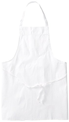 Chef Revival Poly Cotton Economy Bib Apron, 34 by 34-Inch, White