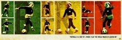 - Bob Marley Football Soccer Reggae Music Poster 12 x 36 inches